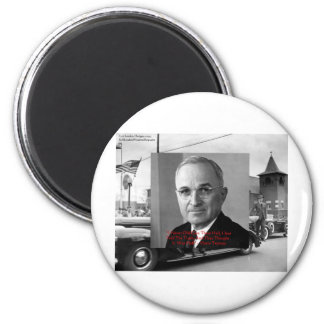"""Harry Truman """"Never Gave Hell"""" Wisdom Quote Gifts 2 Inch Round Magnet"""