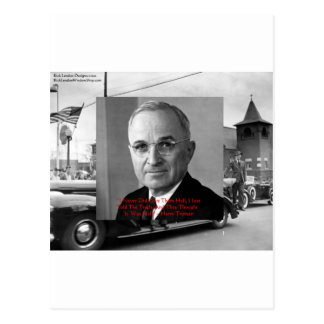 "Harry Truman ""Never Gave Hell"" Wisdom Quote Gifts Postcard"