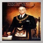 """Harry Truman """"no dio """"poster de la cita del infier"""