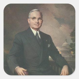 Harry Truman Pegatina Cuadrada