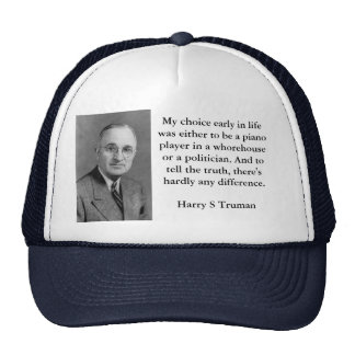 Harry Truman Politicians and Whorehouses Hat