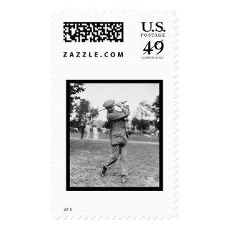 Harry Vardon, Six Time US Open Golf Champion 1914 Stamp