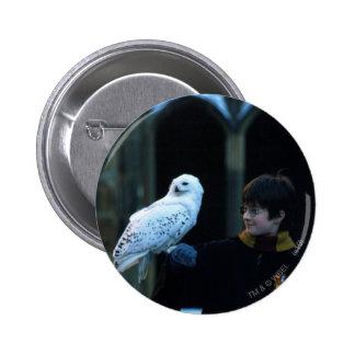 Harry y Hedwig 2 Pin Redondo De 2 Pulgadas