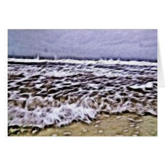 Harsh Waves Along Seashore Card