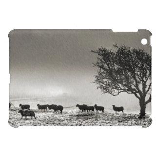 Harsh Winter iPad Mini Cover - Monochrome
