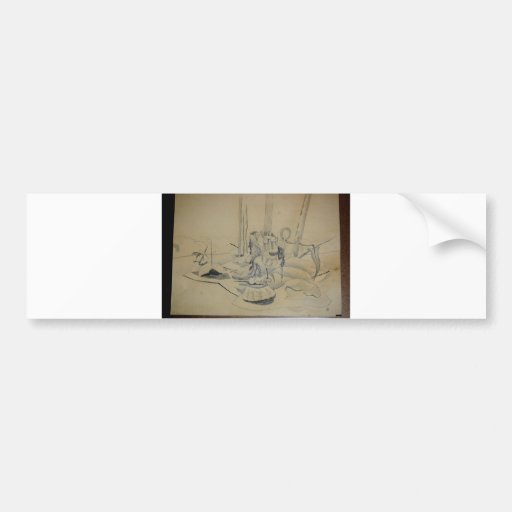 Hart art drawings old and new 143 car bumper sticker