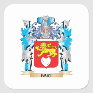 Hart Coat of Arms - Family Crest Square Sticker