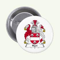 Hart Family Crest Button