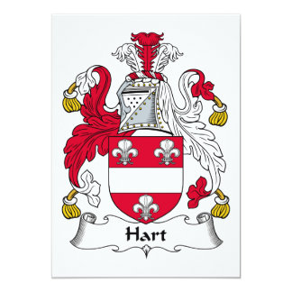 Hart Family Crest Card