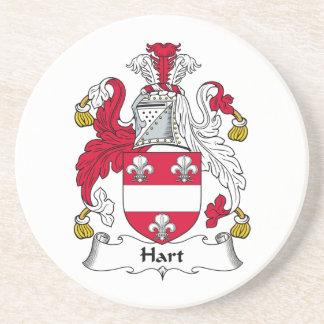 Hart Family Crest Coasters