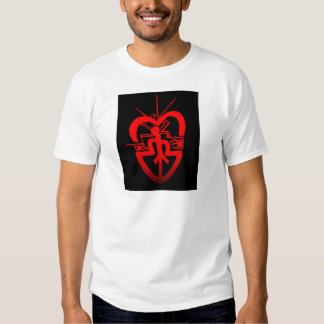 hart radio comunication love t-shirt