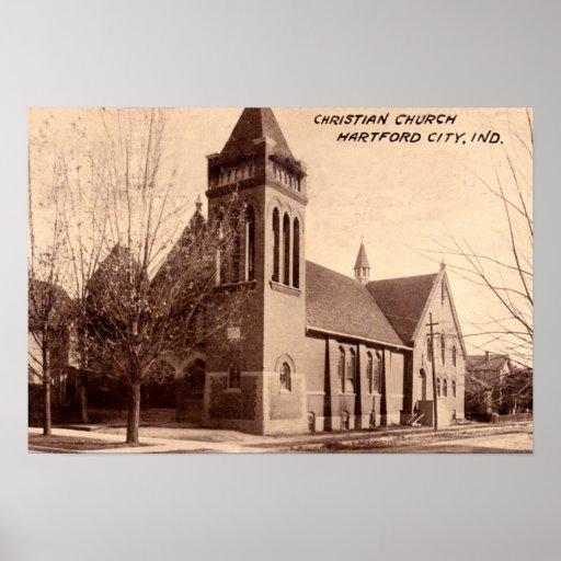 Hartford City Indiana Christian Church, 1910 Posters