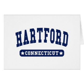 Hartford Connecticut College Style tee shirts Greeting Cards