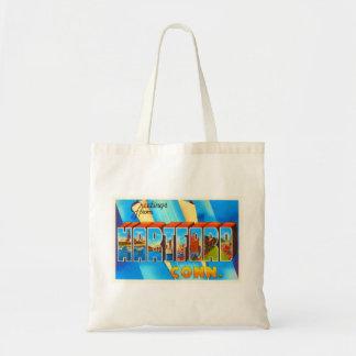 Hartford Connecticut CT Vintage Travel Souvenir Tote Bag