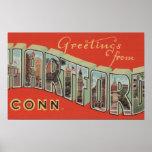 Hartford, Connecticut - escenas grandes 3 de la le Póster