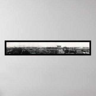 Hartford, Connecticut Panoramic Photo 1913 Poster