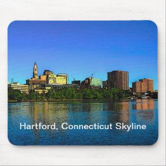 Hartford Connecticut Skyline Mouse Pad