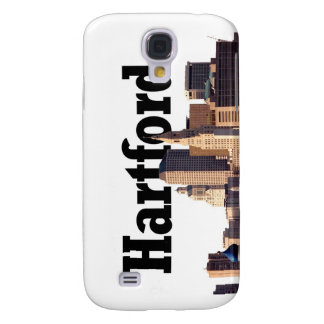 """Hartford CT Skyline with """"Hartford"""" in the sky Galaxy S4 Cover"""