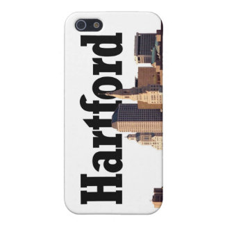 """Hartford CT Skyline with """"Hartford"""" in the sky iPhone SE/5/5s Case"""