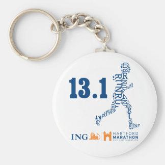Hartford Half-Marathon: 13.1 Basic Round Button Keychain