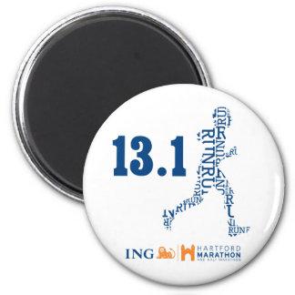 Hartford Half-Marathon: 13.1 2 Inch Round Magnet
