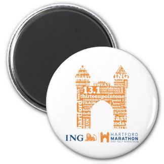 Hartford Half-Marathon: Arch 2 Inch Round Magnet
