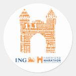 Hartford Half-Marathon: Arch Round Sticker