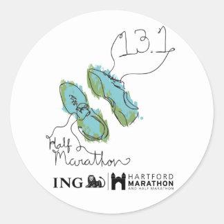 Hartford Half-Marathon: Shoes Classic Round Sticker