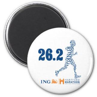 Hartford Marathon: 26.2 2 Inch Round Magnet