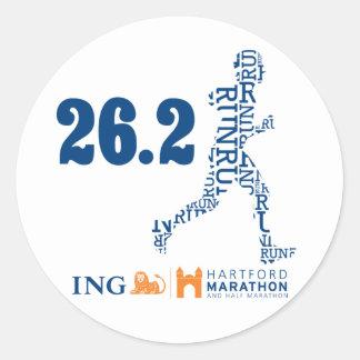 Hartford Marathon: 26.2 Classic Round Sticker