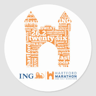 Hartford Marathon: Arch Round Stickers