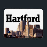 "Hartford Skyline with Hartford in the Sky Magnet<br><div class=""desc"">Hartford Skyline with Hartford in the Sky Mega Magnet</div>"