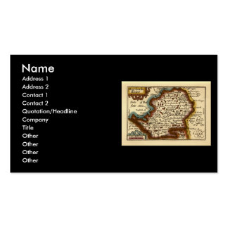 """""""Hartfordeshire"""" Hertfordshire County Map Double-Sided Standard Business Cards (Pack Of 100)"""