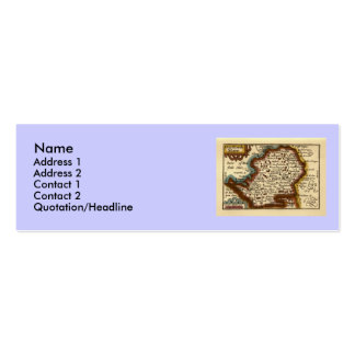 """""""Hartfordeshire"""" Hertfordshire County Map Double-Sided Mini Business Cards (Pack Of 20)"""