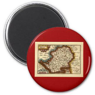 """Hartfordeshire"" Hertfordshire County Map Magnet"