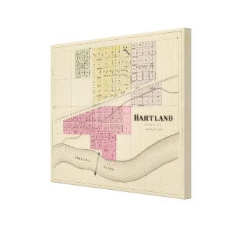 Hartland el condado de Kearney Kansas Lona Envuelta Para Galerías