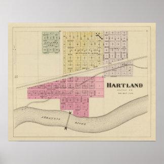 Hartland el condado de Kearney Kansas Poster