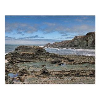 Hartland Quay Coast Postcard