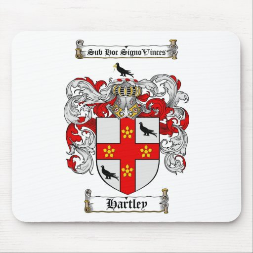 HARTLEY FAMILY CREST -  HARTLEY COAT OF ARMS MOUSE PAD