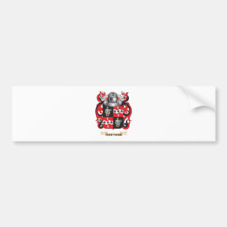 Hartman Coat of Arms (Family Crest) Car Bumper Sticker