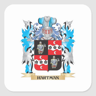 Hartman Coat of Arms - Family Crest Stickers