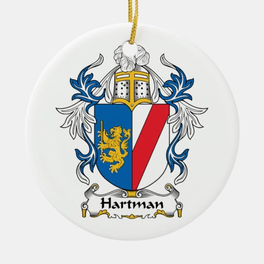 Hartman Family Crest Ceramic Ornament