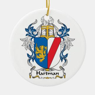 Hartman Family Crest Christmas Tree Ornaments
