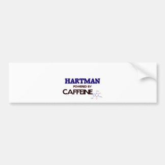 Hartman powered by caffeine car bumper sticker