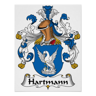 Hartmann Family Crest Posters