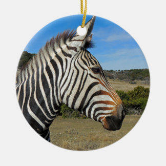 Hartmann's Zebra Profile at Fossil Rim Ceramic Ornament