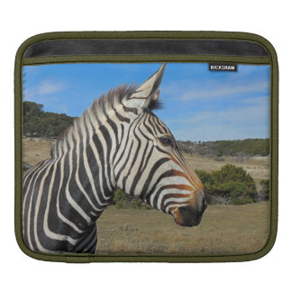 Hartmann's Zebra Profile at Fossil Rim iPad Sleeve