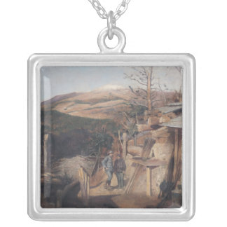 Hartmanswillerkopf, View from Roche-Sermet, 1915 Silver Plated Necklace