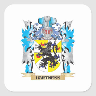 Hartness Coat of Arms - Family Crest Stickers