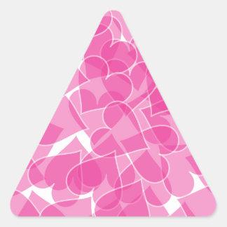 Harts pattern triangle sticker